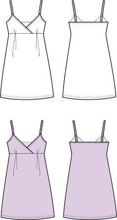 Vector illustration of a dress  Front and back views
