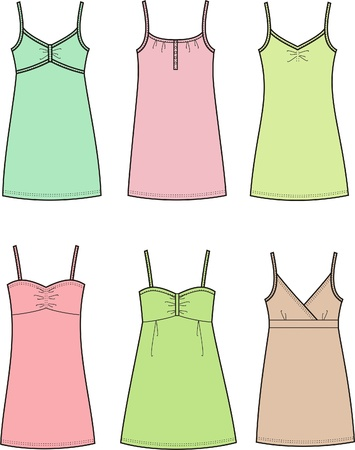 illustration of women s dresses