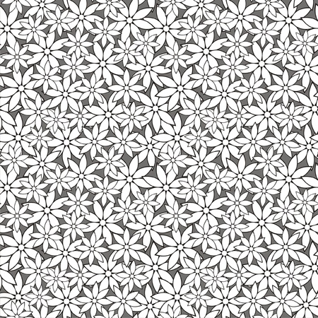 multilayer: illustration of abstract seamless pattern with flowers
