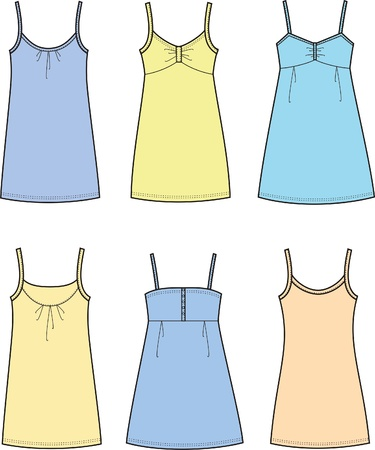 Vector illustration of women s dresses Vector