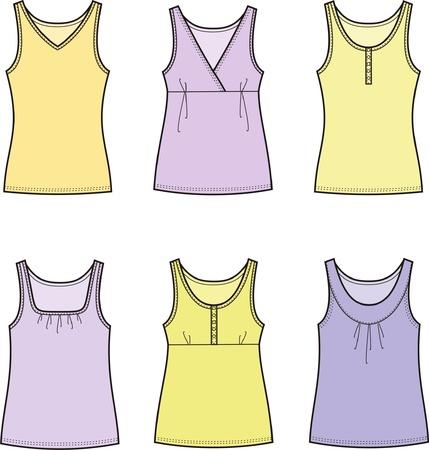t shirt blouse: illustration of women s tops