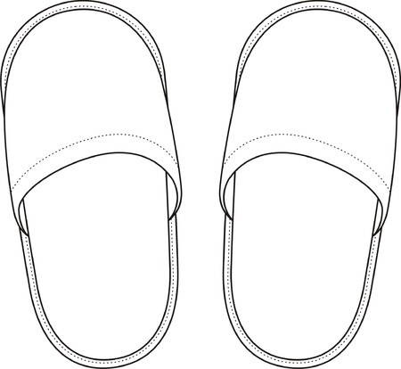 Vector illustration of home slippers Vettoriali