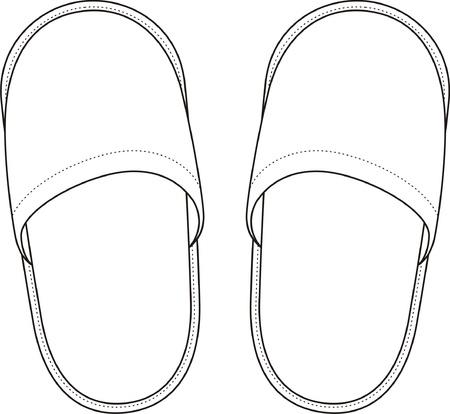 Vector illustratie van thuis slippers