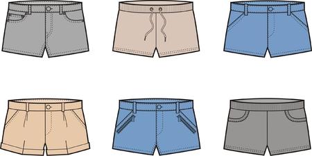 pocket size: Vector illustration  Set of shorts  Illustration