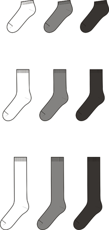Vector illustration  Set of socks