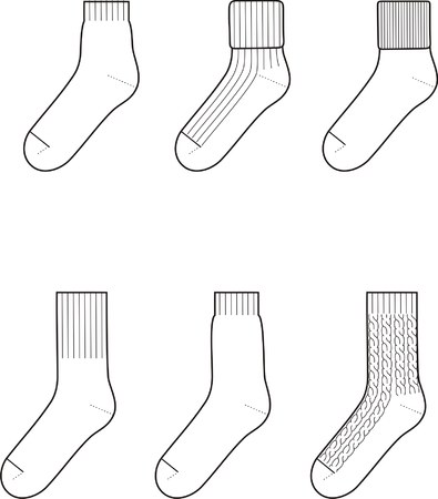 Vector illustratie Set van sokken