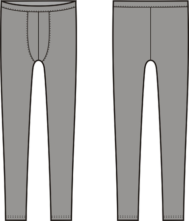 Vector illustration of men s leggings  Front and back views Vector