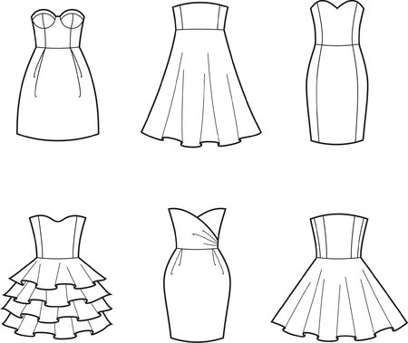 womenīŋŊs: Vector illustration of women s dresses