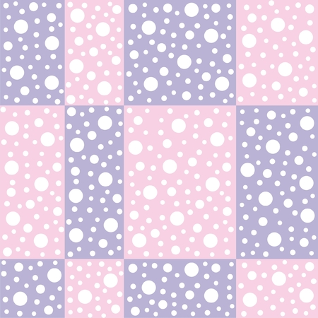 foursquare: Vector illustration of seamless abstract pattern with circles