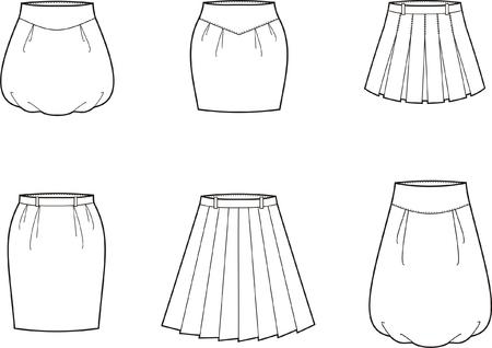 skirts: illustration  Set of skirts Illustration
