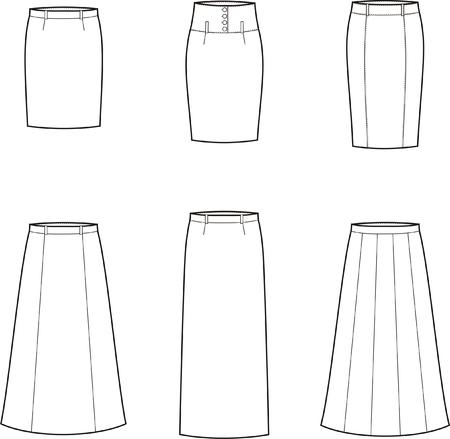 womenīŋŊs: Vector illustration of women s business skirts