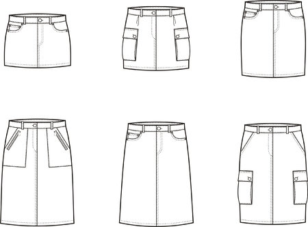 Vector illustration of women s sport skirts Vector