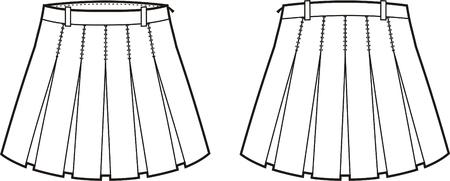 womenīŋŊs: Vector illustration of women s skirt  Front and back views