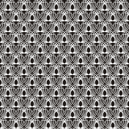 seamlessly: Vector illustration of seamless decorative black-and-white pattern