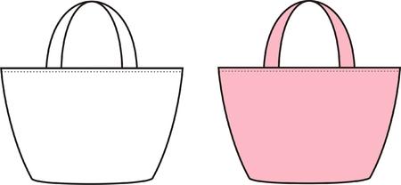 Vector illustration of womens beach bag Illustration