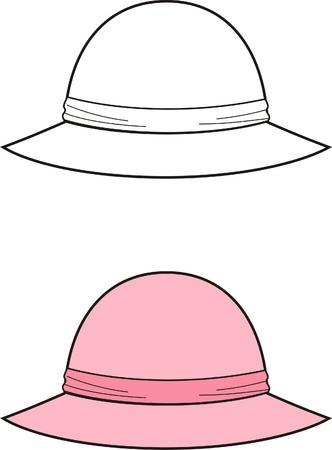 Vector illustration of womens hat 8b800b18200b
