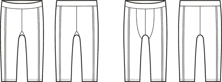 briefs: Vector illustration of mens and womens sport briefs. Front and back views Illustration