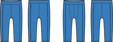 Vector illustration of mens and womens sport briefs. Front and back views Illustration