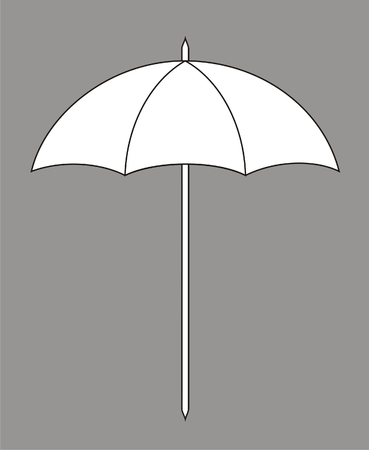 beach umbrella: Vector illustration of sun umbrella
