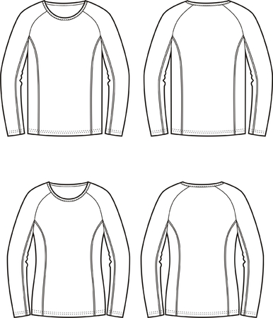 jumpers: Vector illustration of mens and womens sport jumpers. Front and back views