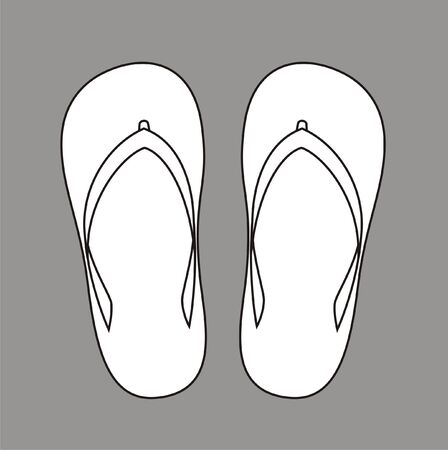 beach slippers: Vector illustration of beach slippers Illustration