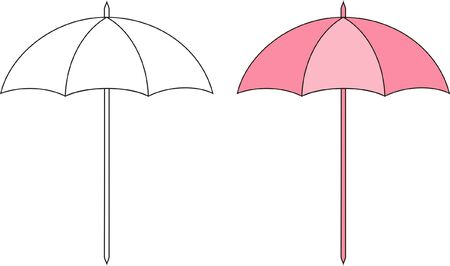 deployed: Vector illustration of sun umbrella