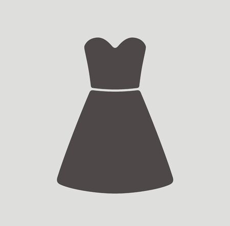 dress sketch: Vector illustration of dress icon Illustration