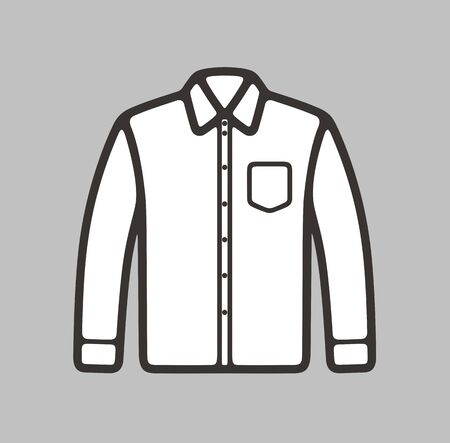 business shirt: Vector illustration of mens business shirt icon