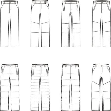 pantalones abajo: ilustración de los pantalones para hombre invierno abajo
