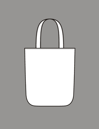 fabric bag: Vector illustration of womens summer beach handbag