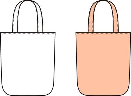beach bag: Vector illustration of womens summer beach handbag