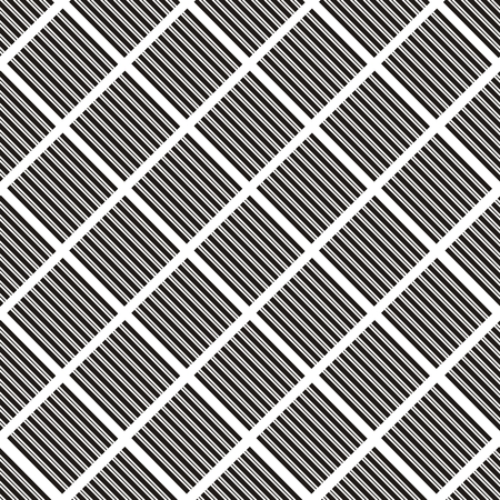 foursquare: Vector illustration of seamless black-and-white geometric pattern Illustration