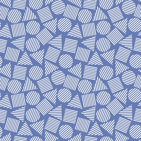 foursquare: Vector illustration of seamless geometric pattern with geometric figures