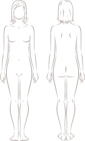 feminino: ilustra Ilustração