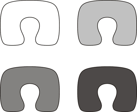anatomic: Vector illustration. Set of neck pillow. Different colors
