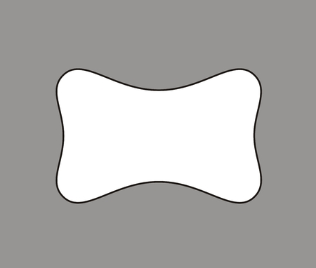 sleeping car: Vector illustration of a pillow on grey background