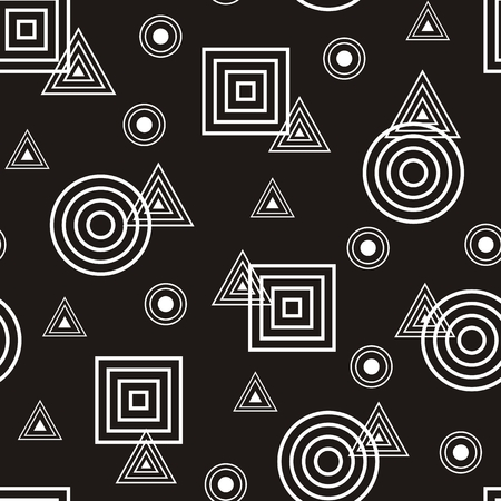 foursquare: Vector illustration of seamless abstract pattern with geometric figures Illustration