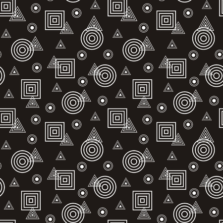 abstract pattern: Vector illustration of seamless abstract pattern with geometric figures Illustration
