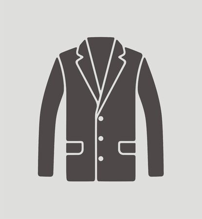 lapel: Vector illustration of mens business jacket icon