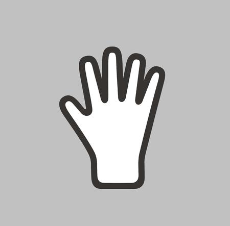 glove: illustration of winter glove icon on background