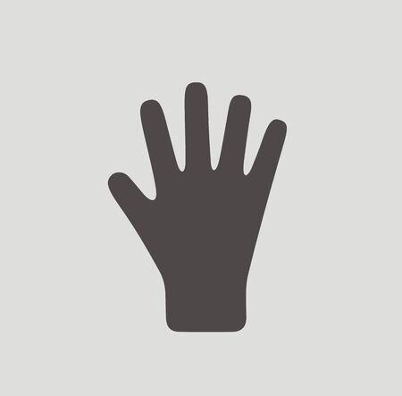 guantes: Ilustración del icono de guantes de invierno en el fondo