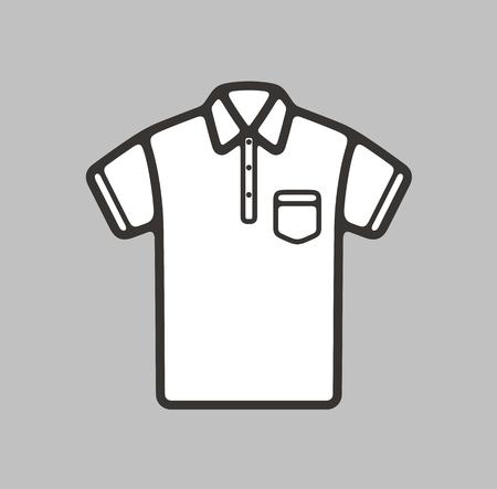 pocket: illustration of polo t-shirt icon on background
