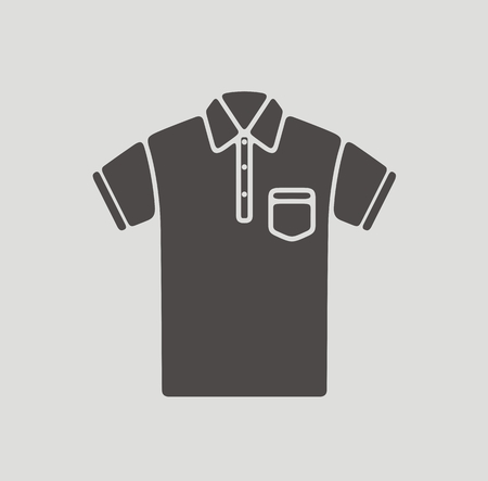 tee shirt template: illustration of polo t-shirt icon on background