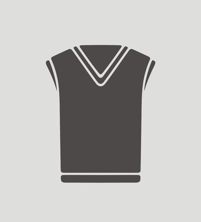 waistcoat: illustration of mens waistcoat icon on background