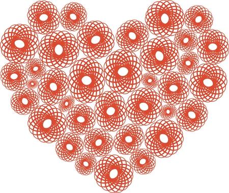 openwork: Vector illustration of decorative heart with openwork elements