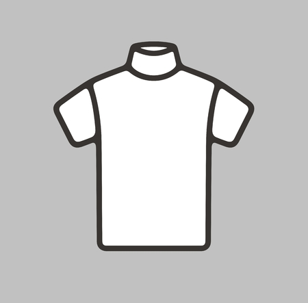 sleeve: Vector illustration of short sleeve turtleneck icon