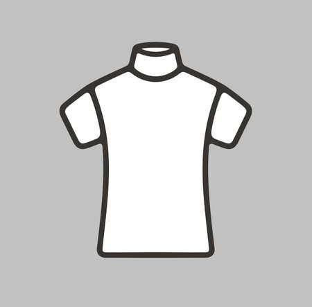 tee shirt template: Vector illustration of short sleeve turtleneck icon