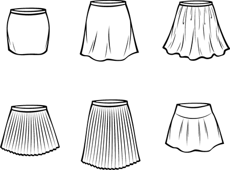 appearance: Vector illustration of womens skirt. Casual clothes
