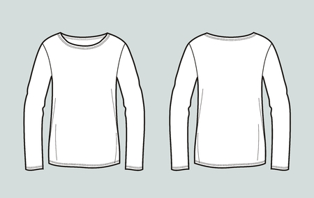 Vector illustration of womens jumper. Front and back Illustration