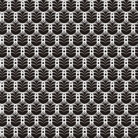 Vectorillustratie van openwork naadloos zwart-wit patroon